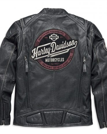 Harley-Davidson Men's Benson Lightweight Leather Jacket Motorcycle Collection Free Shipping