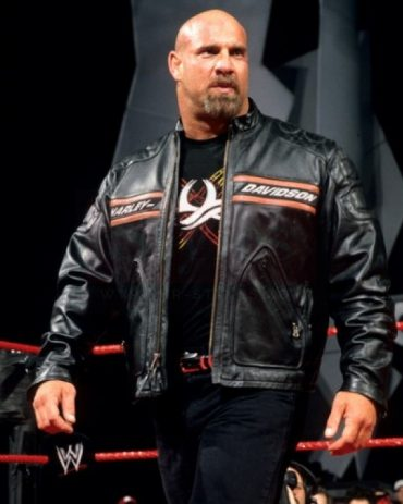 Bill Goldberg Black Harley Davidson Motorcycle Leather Jacket Motorbike Jackets Free Shipping