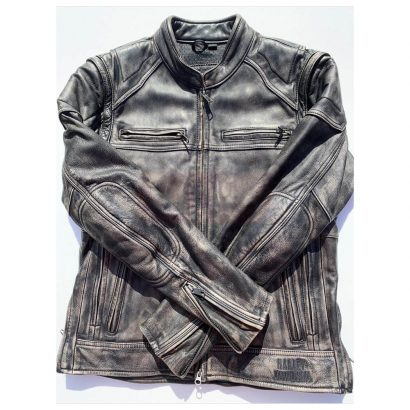 Harley Davidson Men's Dauntless Convertible Motorcycle Leather Jacket Motorcycle Collection Free Shipping