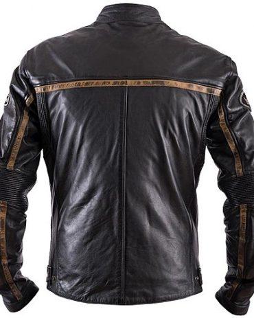 Moto Style Heston Daytona Leather Motorcycle Jacket Motorcycle Collection Free Shipping