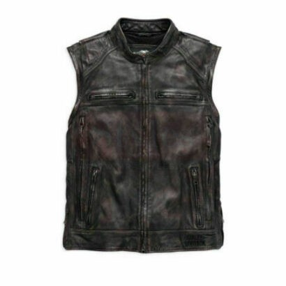 Men's Dauntless Convertible Motorcycle Leather Jacket – Harley Davidson Motorcycle Collection Free Shipping