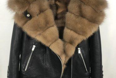 Lamb Shearling Short Moto Jacket