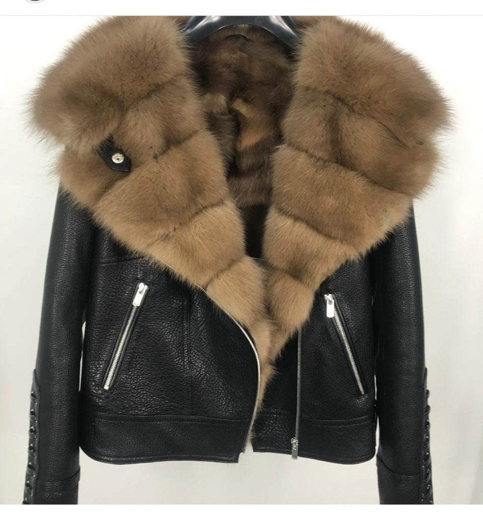Lamb Shearling Short Moto Jacket