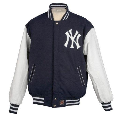 Men's New York Yankees Reversible Wool Varsity Jacket Fashion Collection Free Shipping