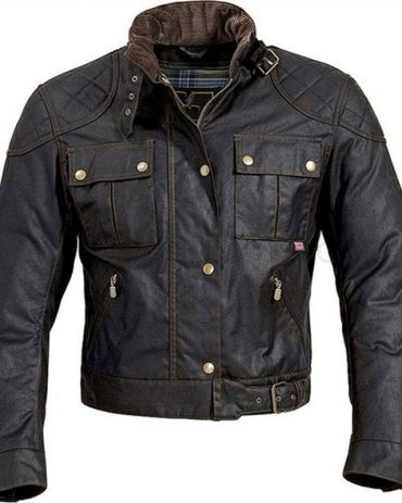 Custom Mens wax coated Motorcycle Jacket Motorbike Jackets Free Shipping