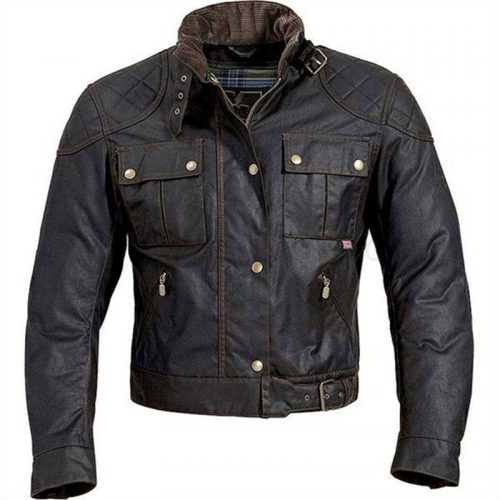 Custom Mens wax coated Motorcycle Jacket Motorcycle Collection Free Shipping