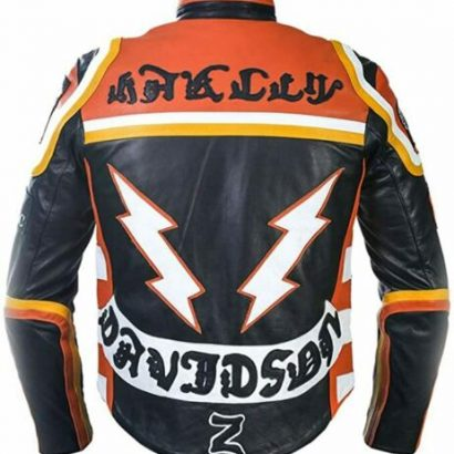 Harley Davidson Mickey Rourke Motorcycle Leather Jacket Fashion Collection Free Shipping