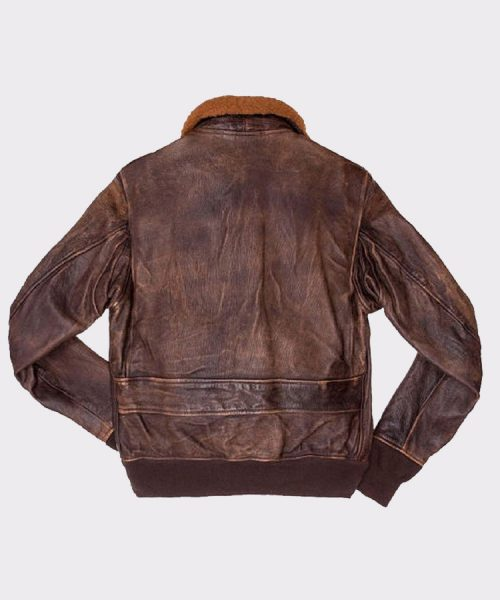 A2 Navy Flight Men Distressed Genuine Brown Leather Jacket Fashion Jackets Free Shipping