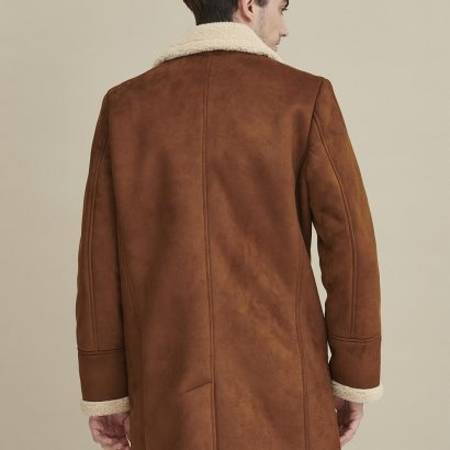 Faux Shearling Car Coat for Men Fashion Jackets Free Shipping