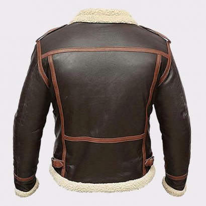 Genuine Lambskin Real Leather Jacket Bomber Faux Fur Leather Bombers jackets Free Shipping