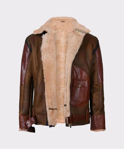 Flying Bomber Jacket Mens Leather Fashion Jackets Free Shipping