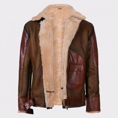 Mens Aviator Raf B3 Leather Bomber Flying Jacket Fashion Jackets Free Shipping
