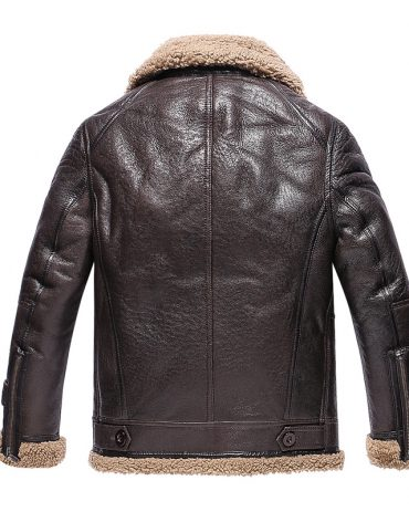 Men's Leather Fur Jacket Fashion Collection Free Shipping