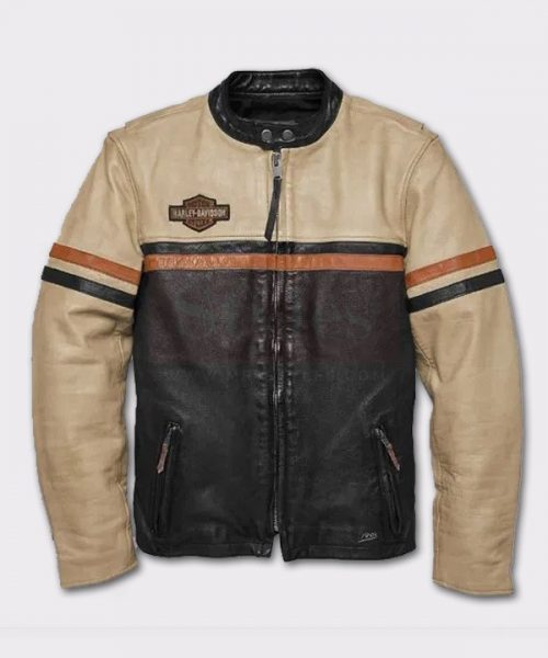 Harley Davidson Men's High-Quality Racing Leather Jacket Fashion Jackets Free Shipping
