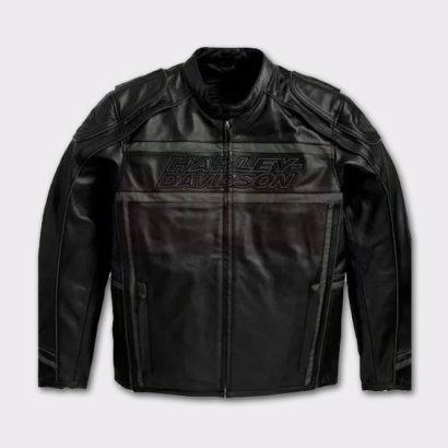 Harley Davidson Men's Luminator Black Leather Jacket Fashion Jackets Free Shipping