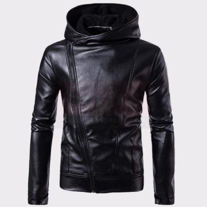 Men Leather Jacket Autumn & Winter Biker Motorcycle Zipper Outwear Warm Coat Fashion Collection Free Shipping