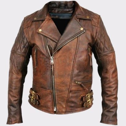 Men's Lambskin Motorcycle Bomber Leather Jacket Fashion Jackets Free Shipping