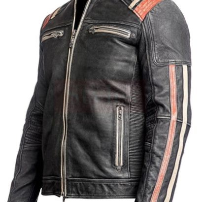 Cafe Racer Leather Jacket Fashion Collection Free Shipping