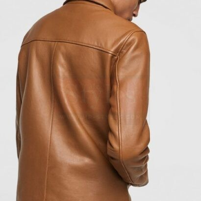 Brown Mens Leather Fashion Jackets Fashion Collection Free Shipping
