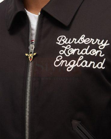 Epping embroidered cotton varsity jacket Fashion Jackets Free Shipping
