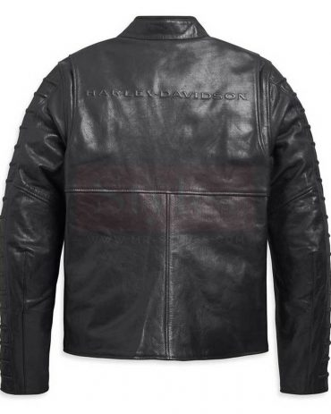 Harley-Davidson Men's Ozello Perforated Slim Fit Leather Jacket, Black Fashion Collection Free Shipping