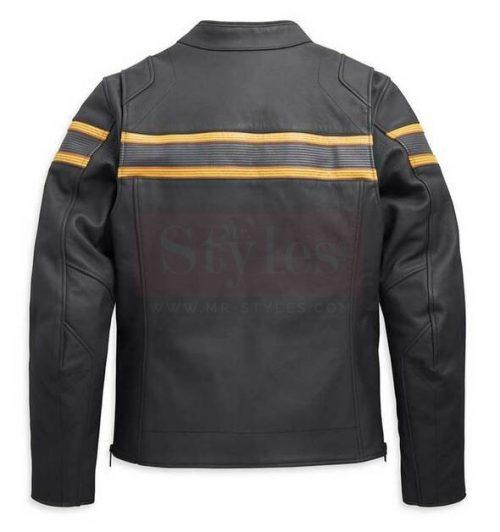 Harley-Davidson Men's Sidari Venting Slim Fit Leather Jacket Fashion Collection Free Shipping