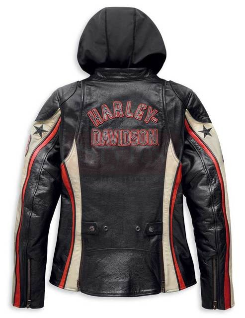 Harley-Davidson Women's Flection 3-IN-1 Colorblocked Leather Jacket Fashion Collection Free Shipping