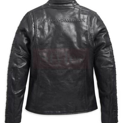 Harley-Davidson Women's Ozello Perforated Midweight Leather Jacket Fashion Collection Free Shipping