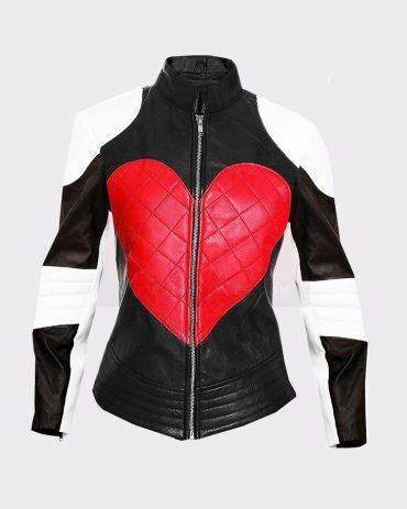 KYLIE MINOGUE LADIES BEAUTIFUL HEART LEATHER FASHION JACKET Leather Bombers jackets Free Shipping