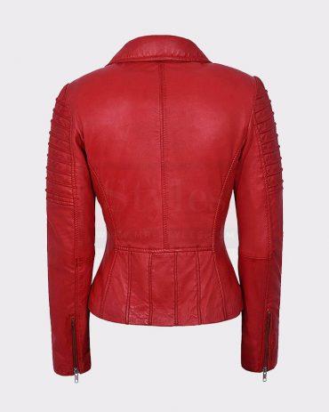 LADIES REAL LEATHER JACKET STYLISH FASHION DESIGNER Leather Bombers jackets Free Shipping