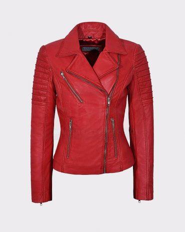 Women's Leather Bomber Jacket Stylish Fashion Design Leather Bombers jackets Free Shipping