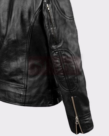 LADIES SARAH CONNOR TERMINATOR GENISYS LEATHER FASHION BIKER JACKET Leather Bombers jackets Free Shipping