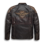 Men's H-D Triple Vent System Trostel Leather Jacket Fashion Collection Free Shipping