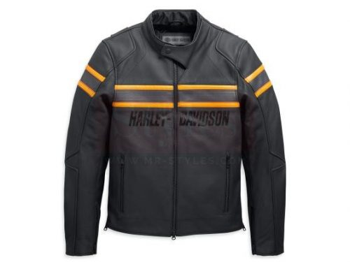 Men's Sidari Leather Jacket Fashion Collection Free Shipping