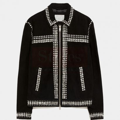 Mr-Styles Suede Leather Fashion Jacket with Studs Fashion Collection Free Shipping