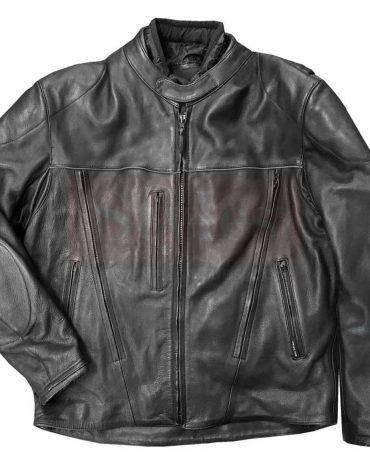 Redline Men's Touring Leather Motorcycle Jacket w/ Gator Lining Fashion Collection Free Shipping