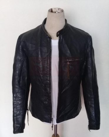 VTG HARLEY DAVIDSON SPORTSTER HORSEHIDE LEATHER CAFE RACER MOTORCYCLE JACKET Fashion Collection Free Shipping
