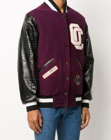 Varsity patch-embellished bomber jacket Fashion Jackets Free Shipping
