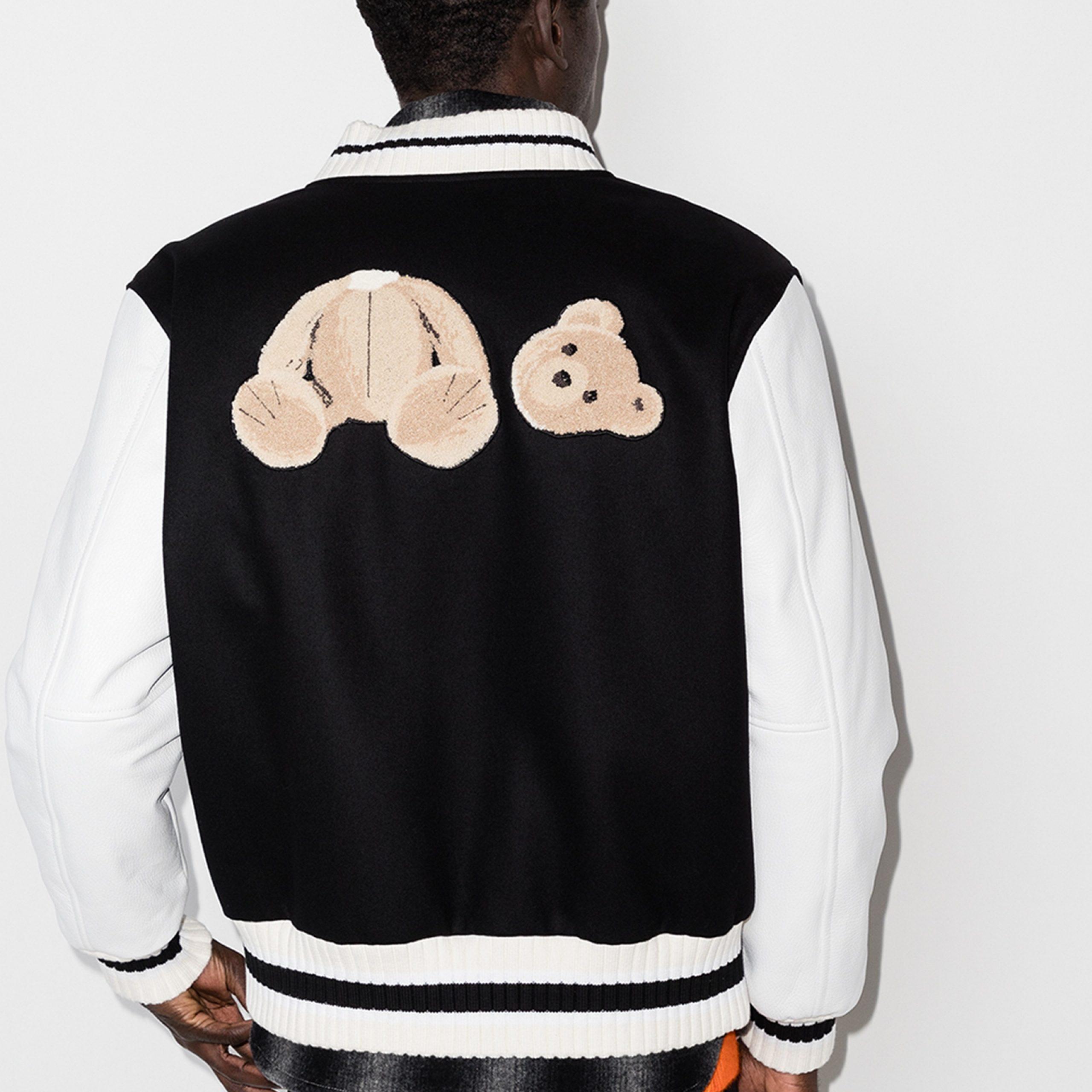 X Browns 50 Bear Motif Varsity Jacket Fashion Jackets Free Shipping