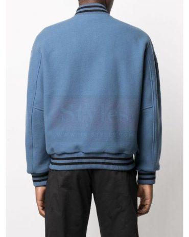 View fullscreen Off-White c/o Virgil Abloh Men's Blue Logo Varsity Jacket Fashion Jackets Free Shipping