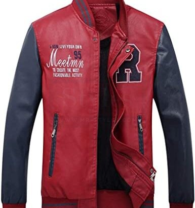 Faux Leather Jackets Stand Collar with Pockets MotoGP Leather Jackets Free Shipping