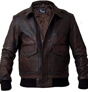 Biker Vintage Distressed Flight A2 Leather Jacket Fashion Jackets Free Shipping