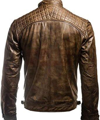 Jacket Vintage Retro MotoGp Distressed Leather Jacket MotoGp Collection Free Shipping