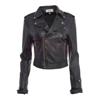 Josey Tumbled Soft Winter Leather Puffer Jacket Puffer Jackets Free Shipping