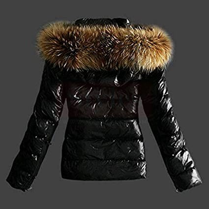 womens Black and shiny puffer coat and jackets Puffer Jackets Free Shipping