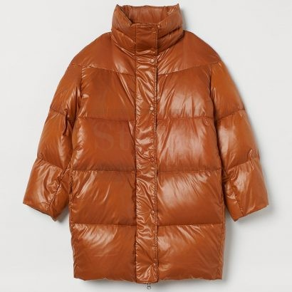 Mr.styles leather Down puffer jacket Puffer Jackets Free Shipping