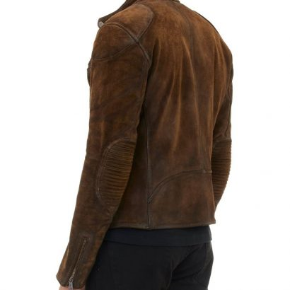 Mens Cafe Racer Brown Suede Western Jacket Western Jacket Free Shipping