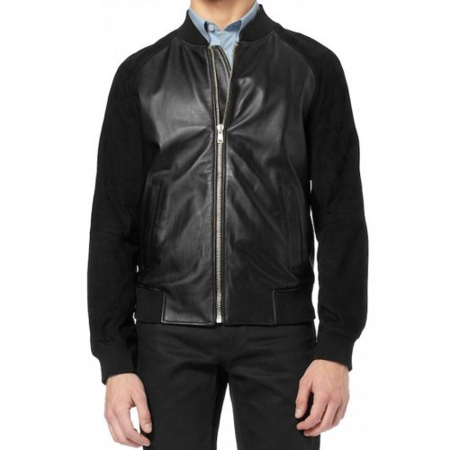 Men's Black Leather Western Shirt Jacket Western Jacket Free Shipping