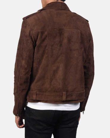 Men's Dark Brown Suede Western Biker Jacket Western Jacket Free Shipping