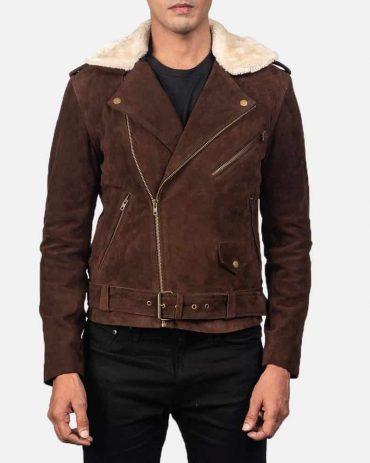 Men's Furton Western Suede Biker Jacket Western Jacket Free Shipping